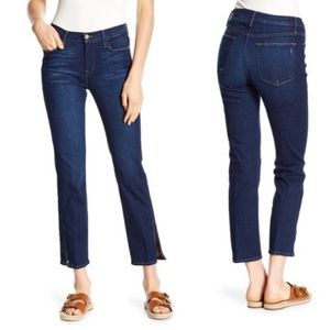 Frame Denim Le High Straight with split Ankle